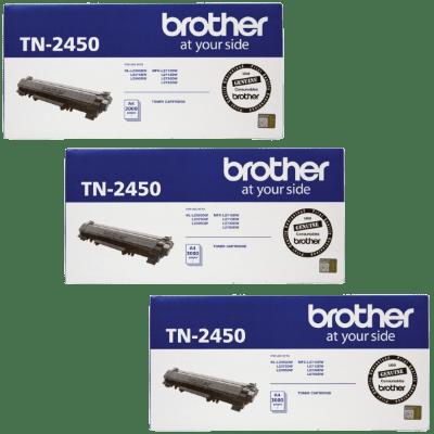 Product Genuine Brother TN-2450 Toner Cartridge High Yield 3 Pack 1 Werko