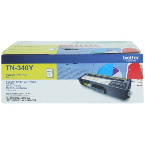 Product Genuine Brother TN-340Y Yellow Toner 1 Werko