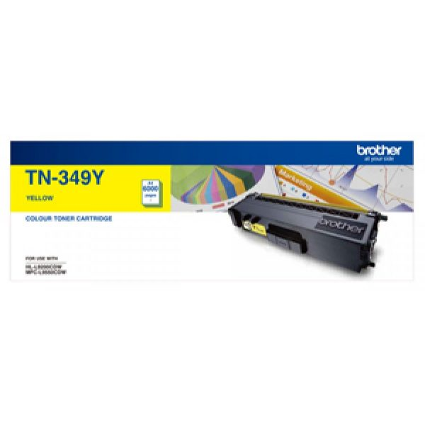 Product Genuine Brother TN-349Y Yellow Toner 1 Werko