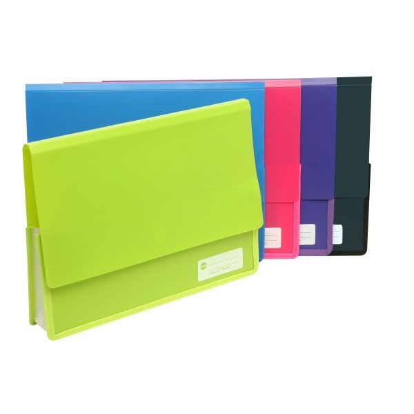 Product Marbig Heavy Duty Document Wallet Polypick Assorted Colours 1 Werko