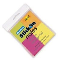 Product STICK ON NOTES B/TONE 76X76 NEON COLS PK3 1 Werko