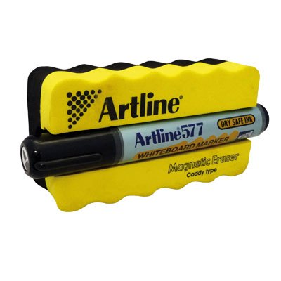 Product Artline 577 Whiteboard Marker and Magnetic Eraser and Caddy 1 Werko