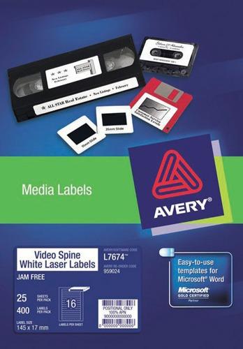 Product LABEL AVERY INKJET J8657R 35MM SLIDES 42UP 936033 PK25 1 Werko