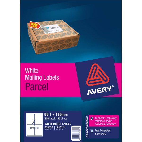 Product LABEL AVERY INKJET J8169-50 4UP 1 Werko