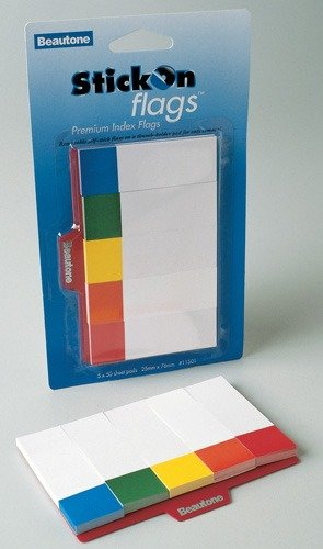 Product INDEX FLAGS STICK ON BANTEX 25X76MM PK250 1 Werko