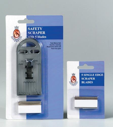 Product BLADES SCRAPER SOVEREIGN SAFETY SINGLE EDGE PK5 1 Werko