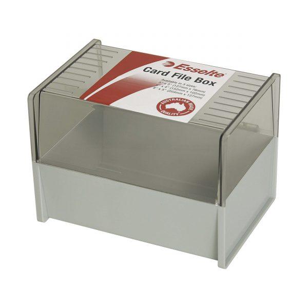 Product ESSELTE DOVE GREY SYSTEM CARD BOX SWS 152X102MM (6X4) 1 Werko