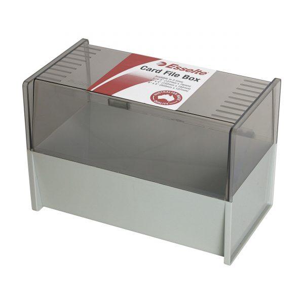 Product SYSTEM CARD BOX SWS ESSELTE 203X127MM (8X5) DOVE GREY 1 Werko