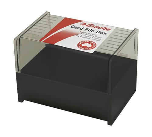 Product ESSELTE BLACK SYSTEM CARD BOX SWS 203X127MM (8X5) 1 Werko