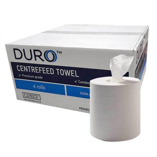 Duro Centrefeed Coreless Towel 300 metre x 19cm
