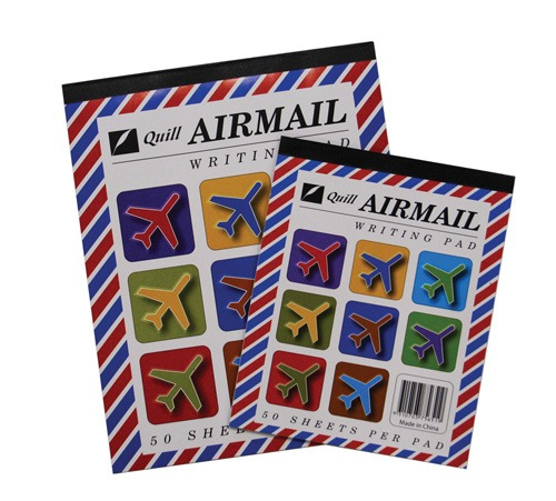Product WRITING PAD AIRMAIL QUILL 10X8 RULED 50LF 1 Werko