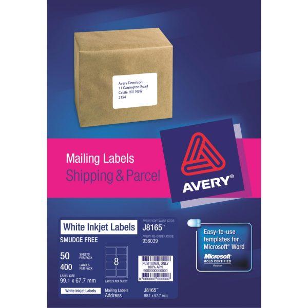 Product LABEL AVERY INKJET J8165-50 8UP 1 Werko