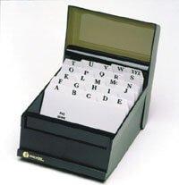 Product ESSELTE SYSTEM CARDS INDEX 8X5 PVC A-Z 1 Werko