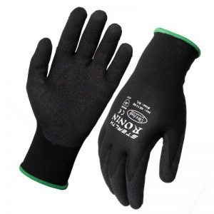 Ronin Stealth Black Nitrile Nylon Glove