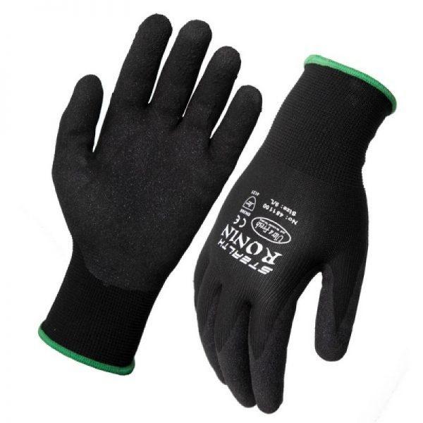 Ronin Stealth Black Nitrile Nylon Glove