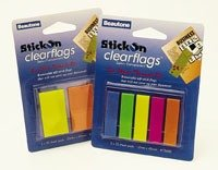 Product STICK ON FLAGS B/TONE CLEAR 12X45 3COL + 25X45 1COL 1 Werko