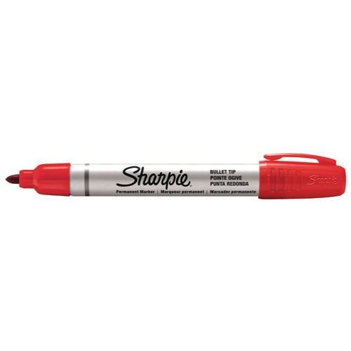 Product Sharpie Pro Metal Bullet Permanent Marker Red 12 Pack 1 Werko