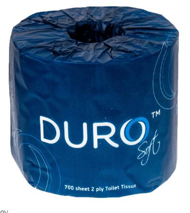 Duro Premium Toilet Roll 2 Ply 700 Sheets X 48 Rolls