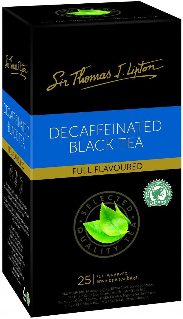 Product TEA BAGS LIPTON SIR THOMAS DECAFFEINATED PK25 1 Werko