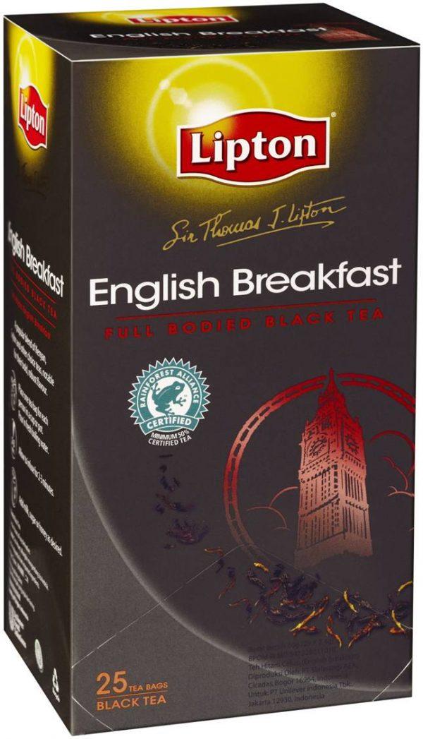 Product TEA BAGS LIPTON SIR THOMAS ENGLISH BREAKFAST 25'S 1 Werko