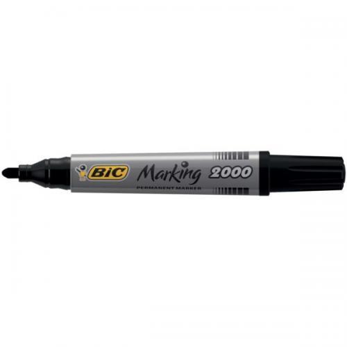 Product BIC Marking 2000 Permanent Marker Bullet Tip Balck 12 Pack 1 Werko