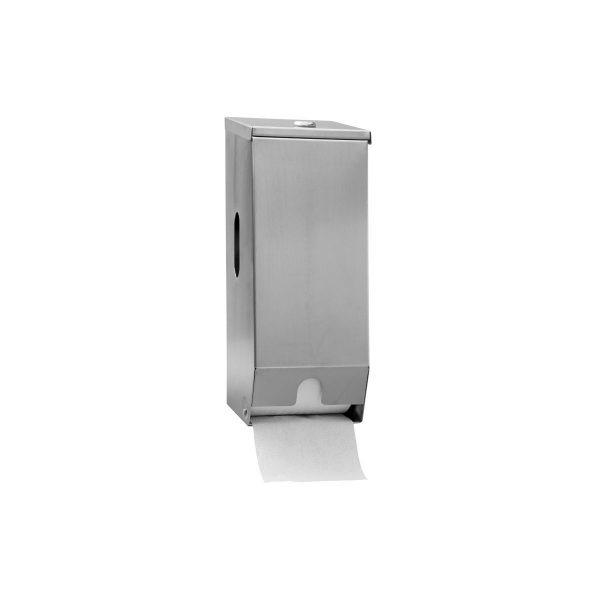 2 Roll Stainless Steel Toilet Roll Dispenser