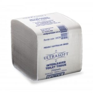 Ultrasoft Interleaved Toilet Tissue 2 Ply 250 Sheets X 36 packs