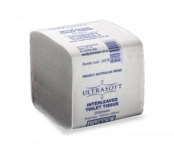 Ultrasoft Interleaved Toilet Tissue 2 Ply 250 Sheets X 36 packs