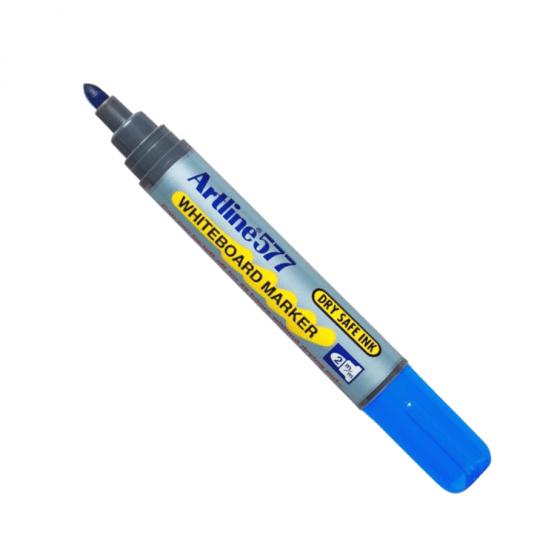 Product Artline 577 Whiteboard Marker 2mm Bullet Nib Blue 12 Pack 1 Werko