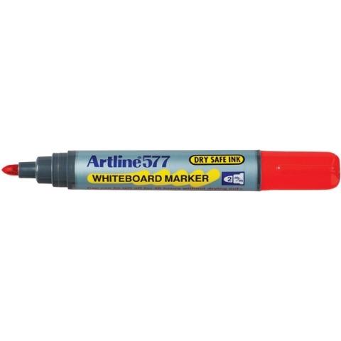 Product Artline 577 Whiteboard Marker 2mm Bullet Nib Red 12 Pack 1 Werko