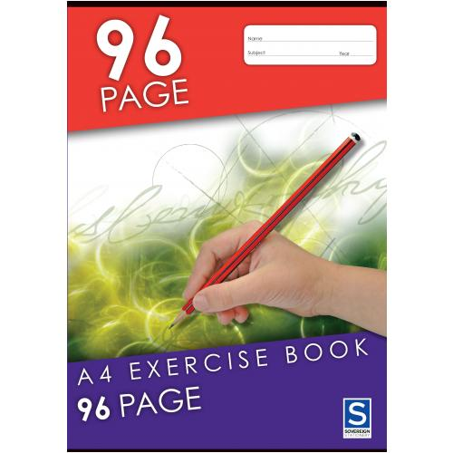 Product Sovereign Binder Book A4 8mm Ruled 96 Page 10 Pack 1 Werko
