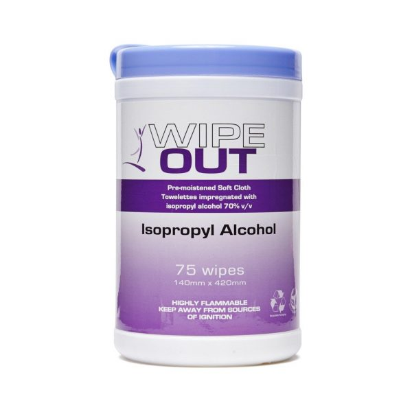 Wipe Out Isopropyl Alcohol Wipes 75 Wipes