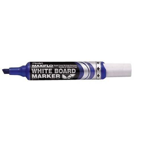 Product Pentel Maxiflo Whiteboard Marker Chisel Tip Blue MWL6 12 Pack 1 Werko