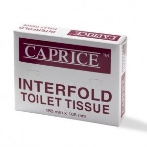 Product Caprice Interfold Toilet Tissue - 150 Sheets x 100 Packs 1 Werko