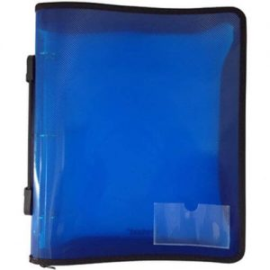 Protext Binder Buddy A4 3 RING 25mm With Zipper and Handle Blue