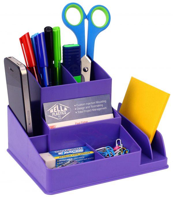 Product Italplast Desk Organiser Assorted Colours 11 Werko