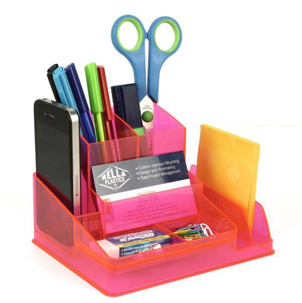 Product Italplast Desk Organiser Assorted Colours 4 Werko