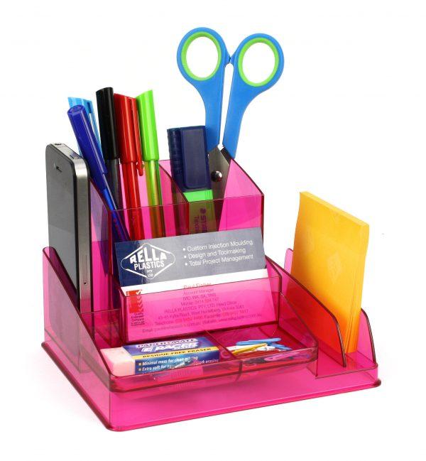 Product Italplast Desk Organiser Assorted Colours 9 Werko
