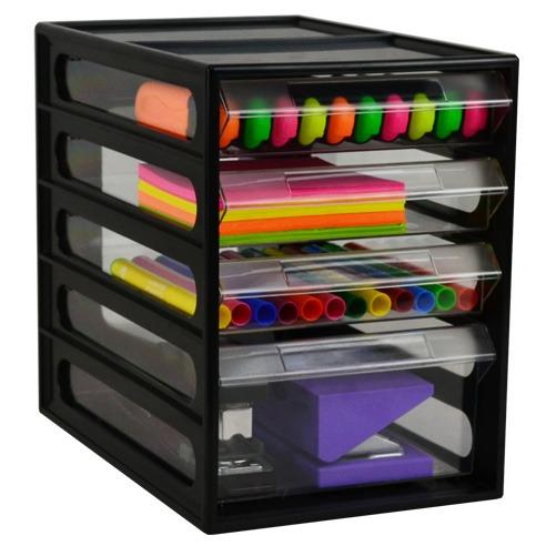Product Italplast Office Organiser 4 Drawer Black And Green Recycled Black 3 Werko