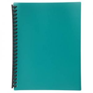 Razorline Refillable Display Book A4 20 Pocket Green
