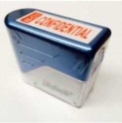 "DESKMATE SELF INKING STAMP RED ""CONFIDENTIAL"""
