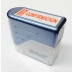 "Deskmate Self Inking Stamp Red ""CONFIRMATION"""