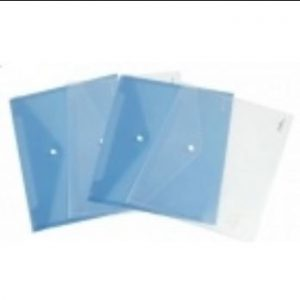 Deli Clear File Bag A4 Button 10 Pack
