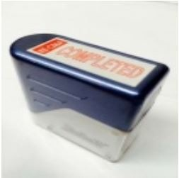 """Product Deskmate Self Inking Stamp Red Ink """"COMPLETED"""" 1 Werko"""