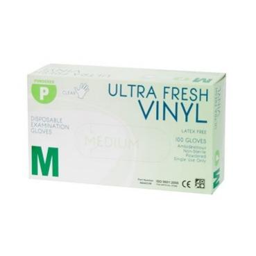 Product Ultra Fresh Vinyl Disposable Powdered Glove - Carton Of 1000 1 Werko