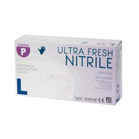 Product Ultra Fresh Blue Nitrile Powdered Exam Glove 1 Werko