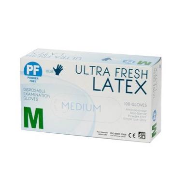 Product Ultra Fresh Blue Disposable Latex Powder Free Glove - Carton Of 1000 1 Werko