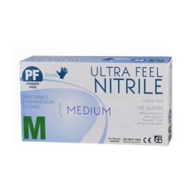 Ultra Feel Cobalt Blue Nitrile Powder Free Exam Glove