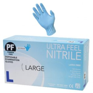 Ultra Feel Blue Nitrile Powder Free Exam Glove