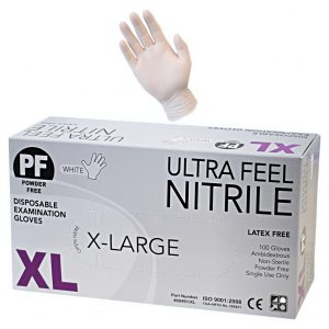 Ultra Feel White Nitrile Powder Free Exam Glove